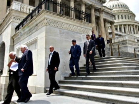 Congress-Descends-Capitol-Steps-AP